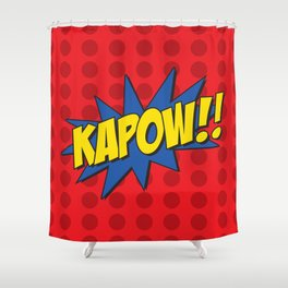kapow! Shower Curtain