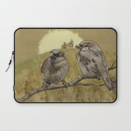 Sparrows at Sunrise Laptop Sleeve