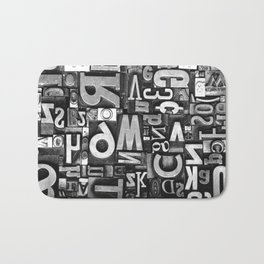 Metal Madness - Typography Photography™ Bath Mat