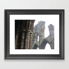 Whitby Abbey in Fog Framed Art Print