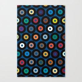VINYL blue Canvas Print