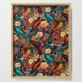 FLORAL AND BIRDS XVII Serving Tray