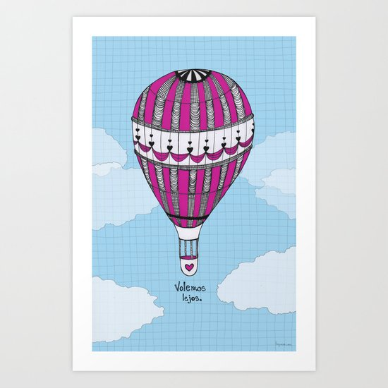Hot Air Balloon, Spanish Art Print