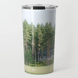 Cabin by the lake in Finland Travel Mug