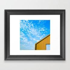 Yellow on Blue Framed Art Print