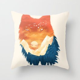 Wild Sunset Throw Pillow