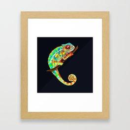 Color Changing Chameleon Framed Art Print
