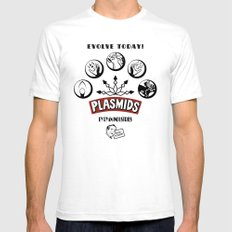 Plasmids SMALL White Mens Fitted Tee