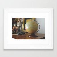 globe Framed Art Prints featuring Globe by dani.rbcc