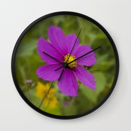 Purple Wildflower Wall Clock