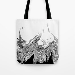 Modern contemporary Black and White Abstract Tote Bag