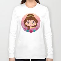 belle Long Sleeve T-shirts featuring Belle by Cute Galaxy