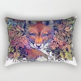 Hiding fox rainbow Rectangular Pillow
