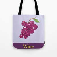 wine Tote Bags featuring Wine by Heather Martinez