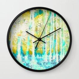 Sherwood Pines Abstract Art Wall Clock