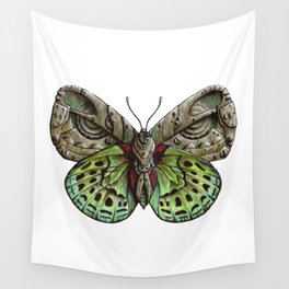 Green steampunk butterfly Wall Tapestry