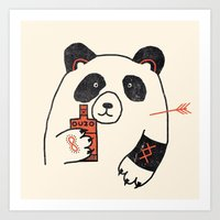 panda Art Prints featuring Panda by Farnell