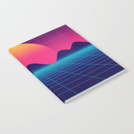 Throwback Sunset Synthwave Notebook