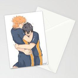 kagehina -tired but happy Stationery Cards