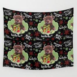 Bruno Christmas Bear (Rudolph Fan) Wall Tapestry