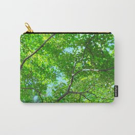 Canopy of Green, Leafy Branches with Blue Sky Carry-All Pouch