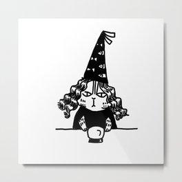 Wizard Cat Metal Print