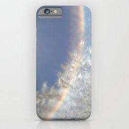Wispy with rainbow flare iPhone Case