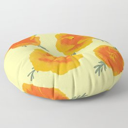 California Poppies Floor Pillow