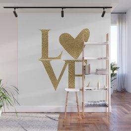 Golden Love Wall Mural