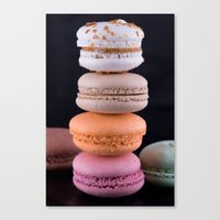 macaroons Canvas Prints featuring Macaroons  by Michael Moriarty Photography