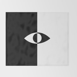 Eye - in a black has a white And in a white has a black Throw Blanket