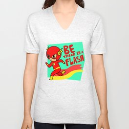 BE THERE IN A FLASH Unisex V-Neck