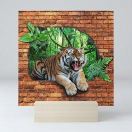 Tiger - Window To The Jungle Mini Art Print