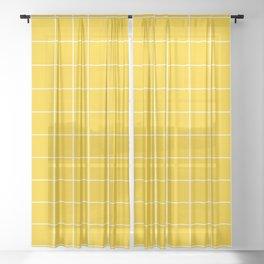 Sunshine Grid Sheer Curtain