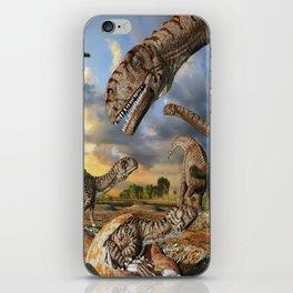 Jurassic dinosaurs being born iPhone Skin