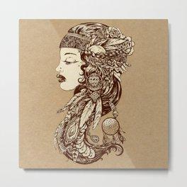 Gypsy Girl Metal Print