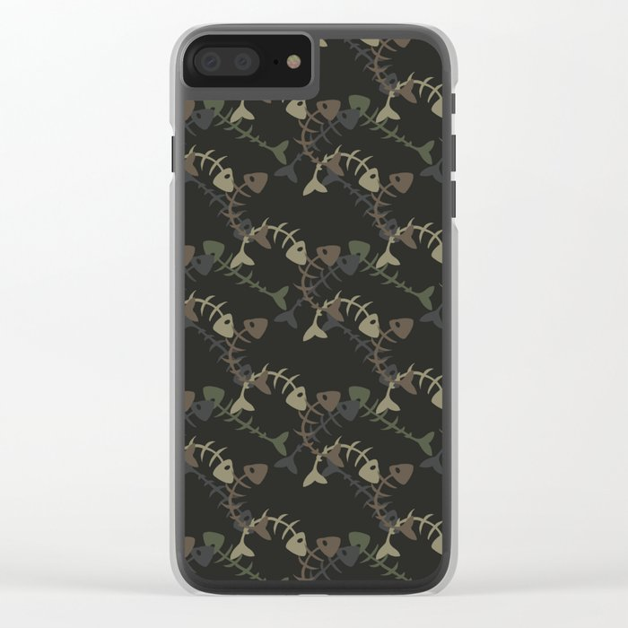 fish pattern Clear iPhone Case