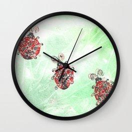 Ladybug Parade Wall Clock