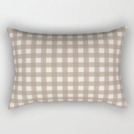 Buffalo Checks in Tan and Cream Rectangular Pillow