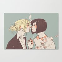 mikasa Canvas Prints featuring Spring by lazyafternooner