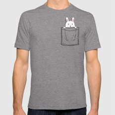 My Pet SMALL Mens Fitted Tee Tri-Grey