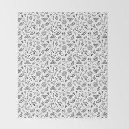 Modern Witch - White Throw Blanket