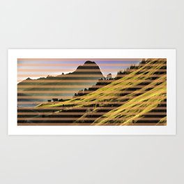 Landscape pattern (with pink touches) Art Print