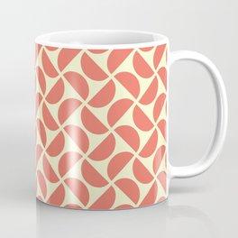 HALF-CIRCLES, CORAL Coffee Mug