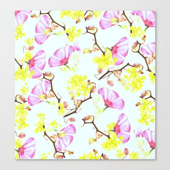 Spring flowers (floral) Canvas Print