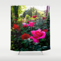 switzerland Shower Curtains featuring Flowers in Switzerland #2 by Heather Hartley