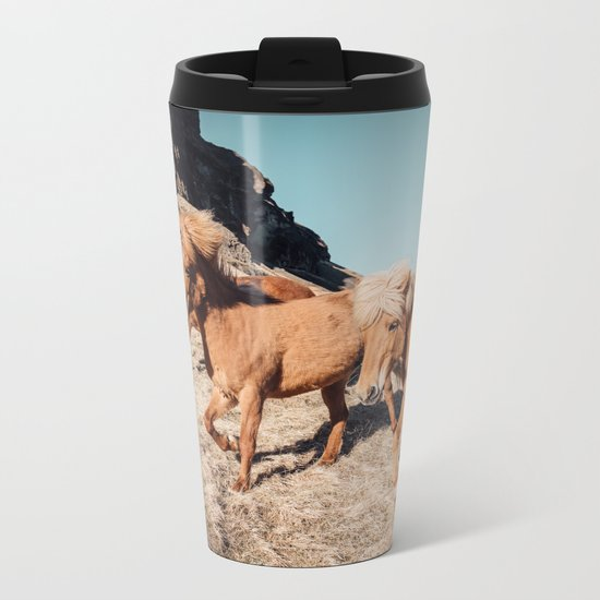 A Horse of Course Metal Travel Mug