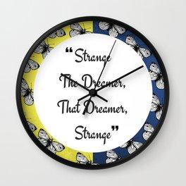 Strange The Dreamer Wall Clock