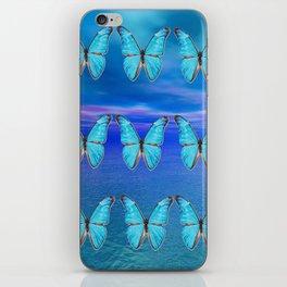 Blue Butterflies iPhone Skin