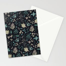Night Nature Floral Pattern Stationery Cards